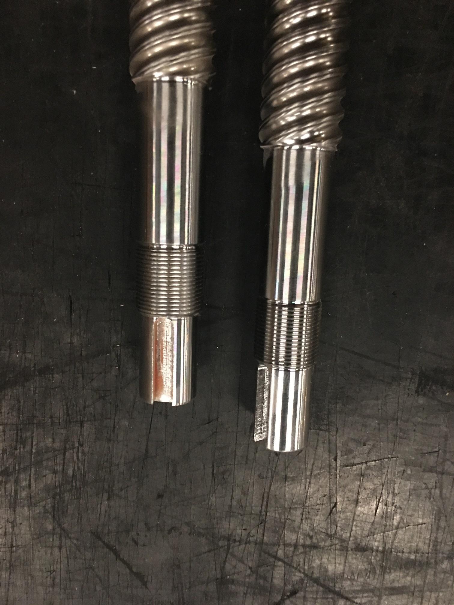 machined ball screw fixed side