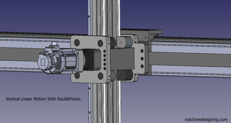 Vertical Linear Motion With Rack&Pinion – 1