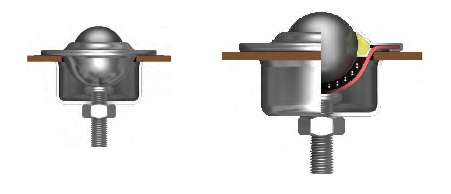 clamp fixing ball transfer